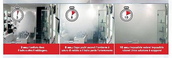 Quad Impianti - Protect, impianto antintrusione con nebbiogeno