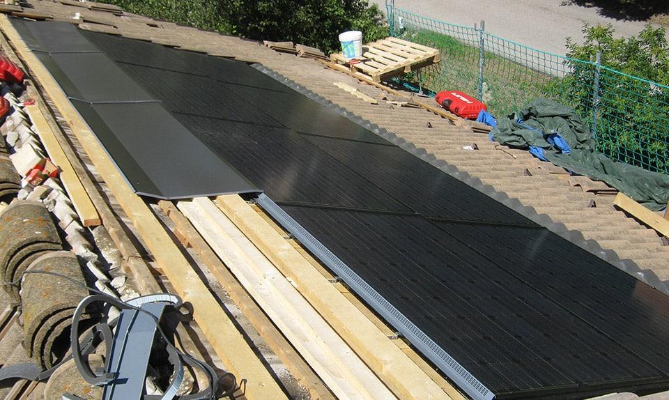Impianto fotovoltaico totalmente integrato