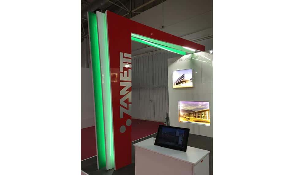 Illuminazione dello stand fiera per la Zanetti di Pergine Valsugana (TN)