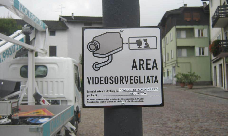 Comune di Caldonazzo - Dorsale rete fibra ottica comunale - realizzazione del I° lotto Videosorveglianza Urbana